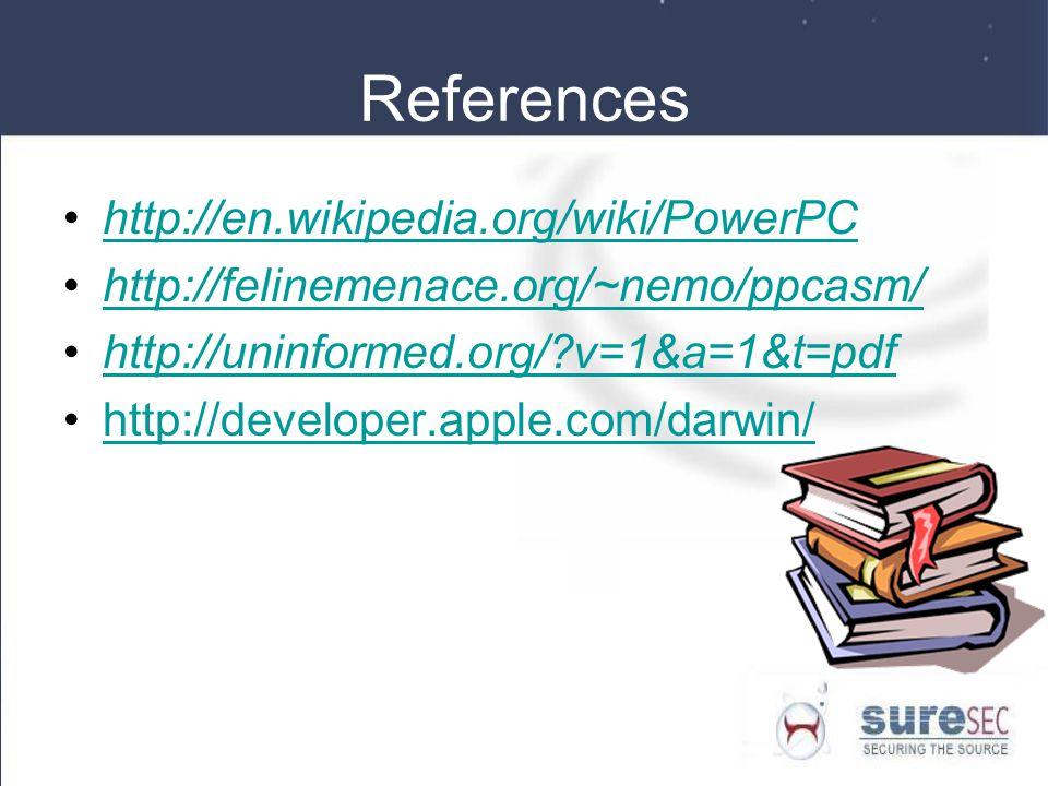 References http://en.wikipedia.org/wiki/PowerPC