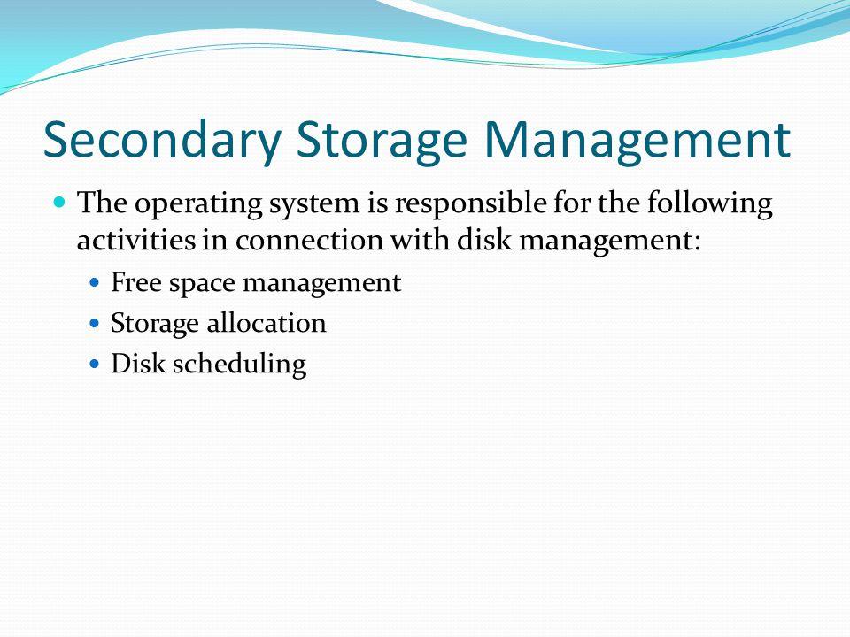 Secondary Storage Management
