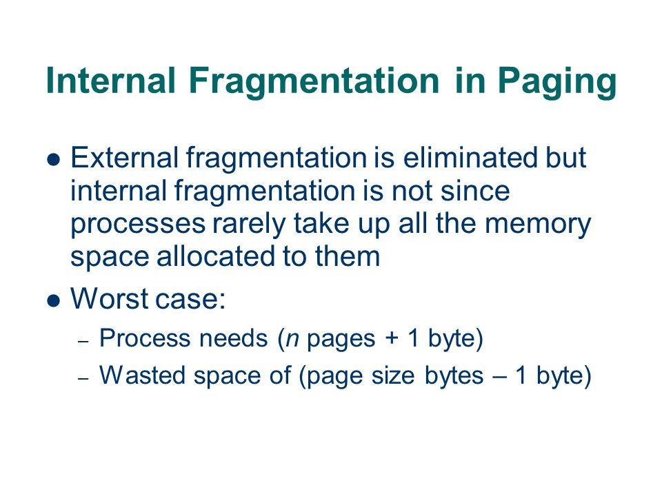 Internal Fragmentation in Paging