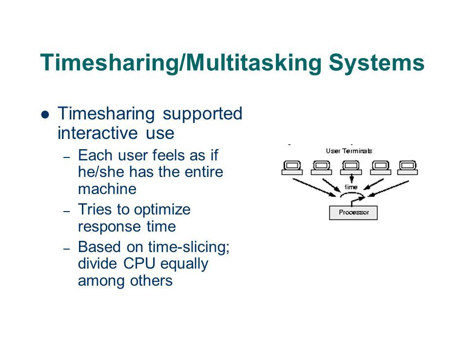 Timesharing/Multitasking Systems
