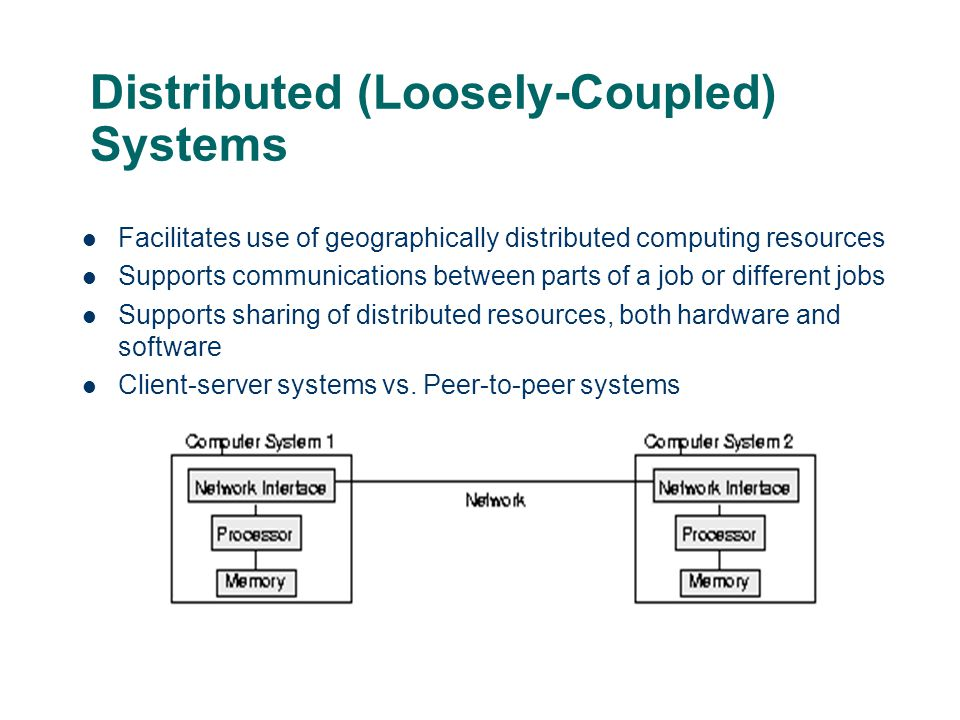 Distributed (Loosely-Coupled) Systems