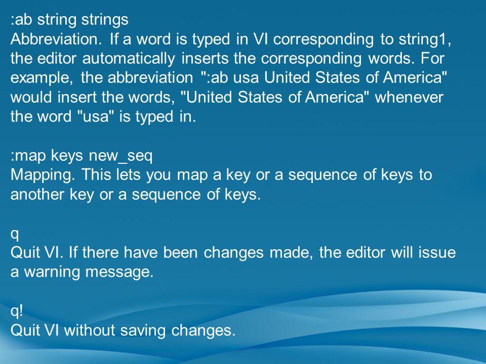 :ab string strings