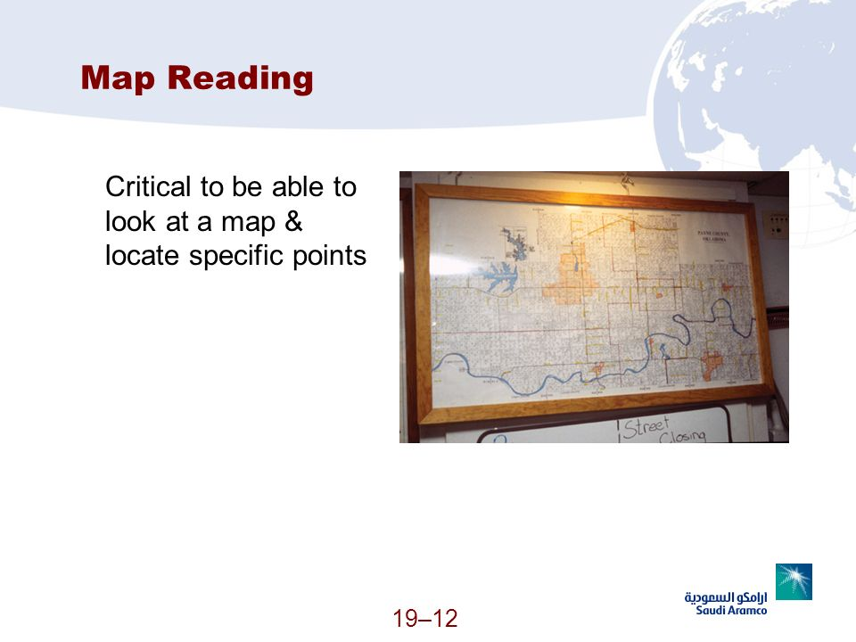 Map Reading Critical to be able to look at a map & locate specific points (Continued)