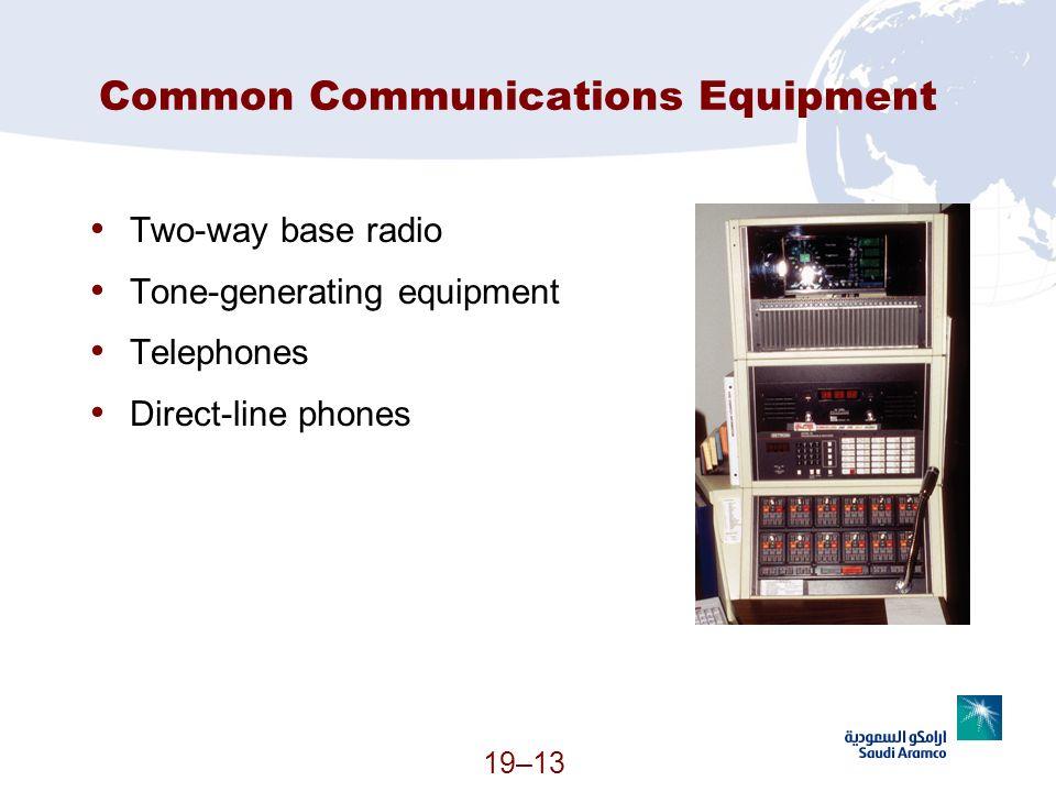 Common Communications Equipment