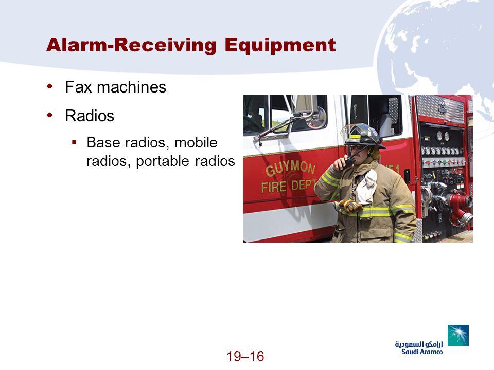Alarm-Receiving Equipment
