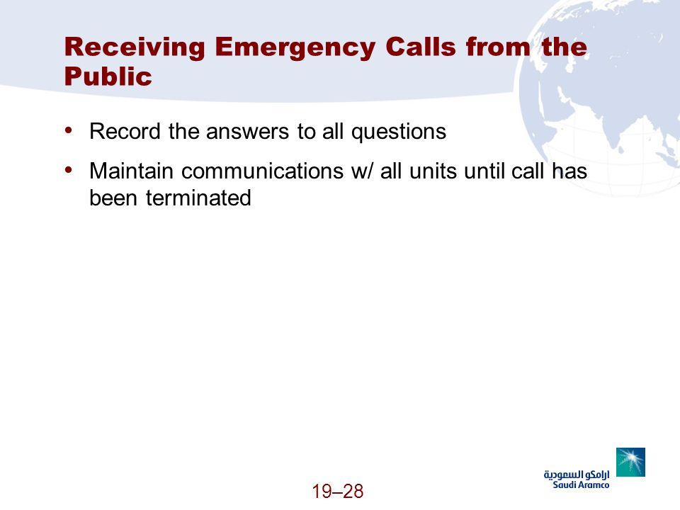 Receiving Emergency Calls from the Public