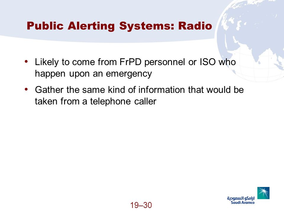 Public Alerting Systems: Radio
