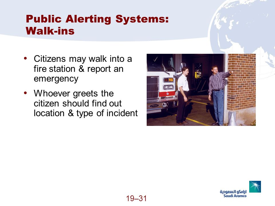 Public Alerting Systems: Walk-ins