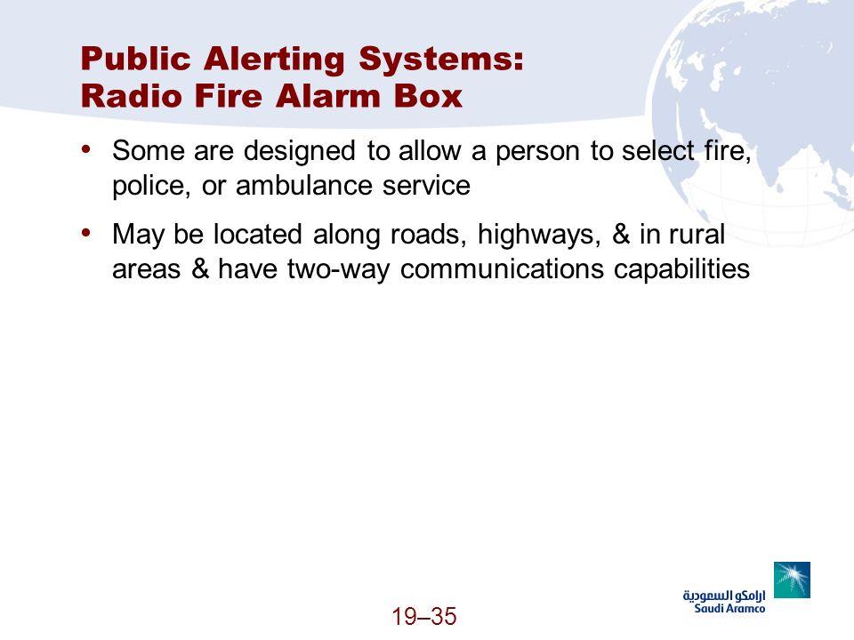 Public Alerting Systems: Radio Fire Alarm Box