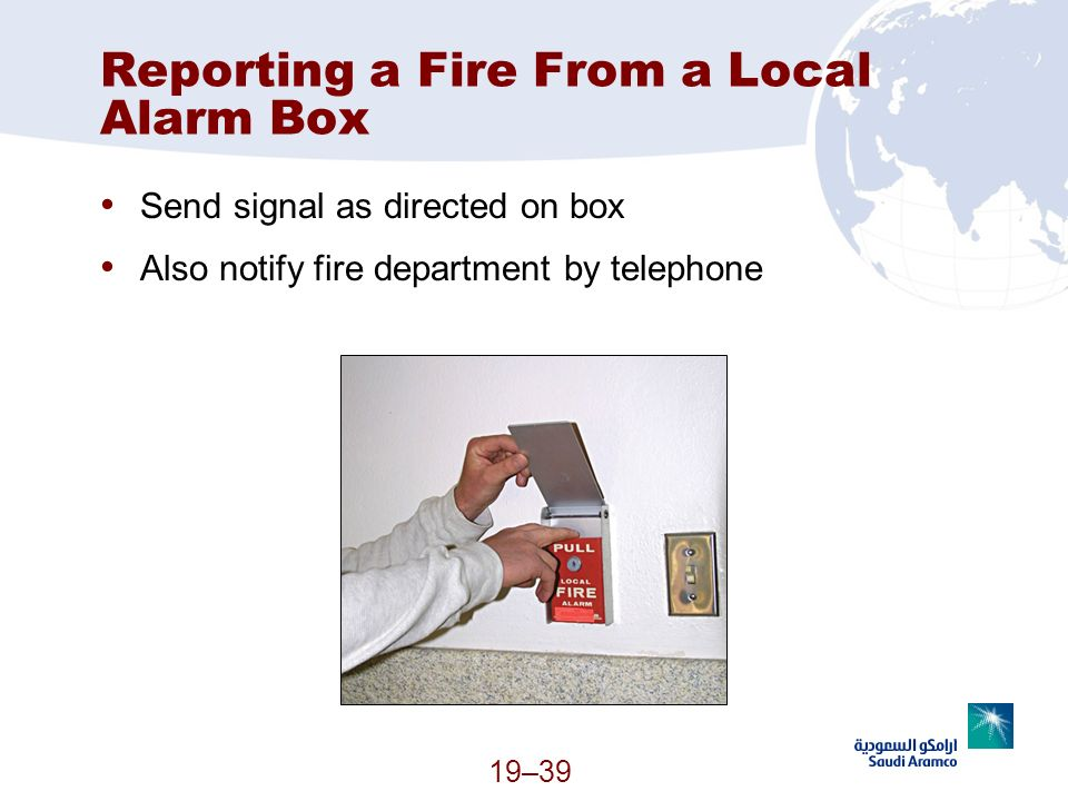 Reporting a Fire From a Local Alarm Box