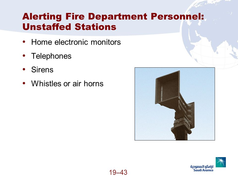 Alerting Fire Department Personnel: Unstaffed Stations