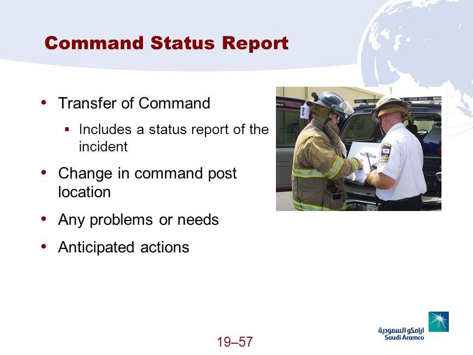 Command Status Report Transfer of Command