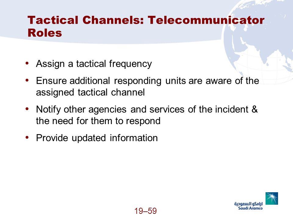 Tactical Channels: Telecommunicator Roles
