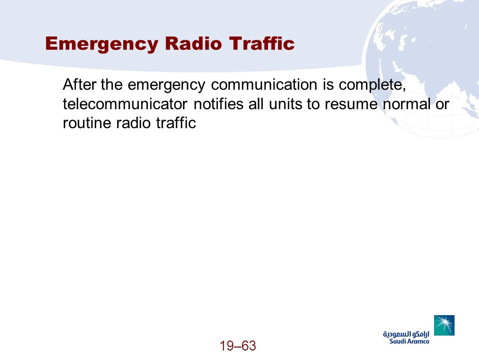 Emergency Radio Traffic
