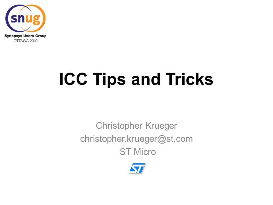 Christopher Krueger christopher.krueger@st.com ST Micro