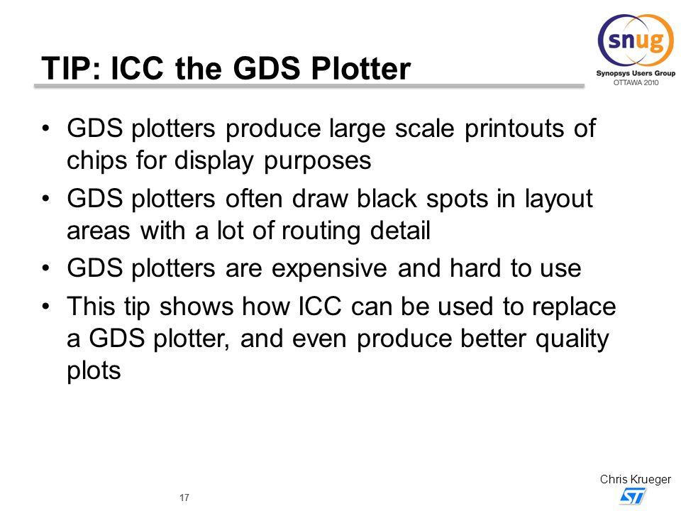TIP: ICC the GDS Plotter