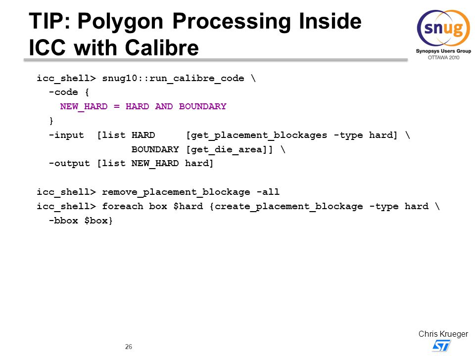 TIP: Polygon Processing Inside ICC with Calibre