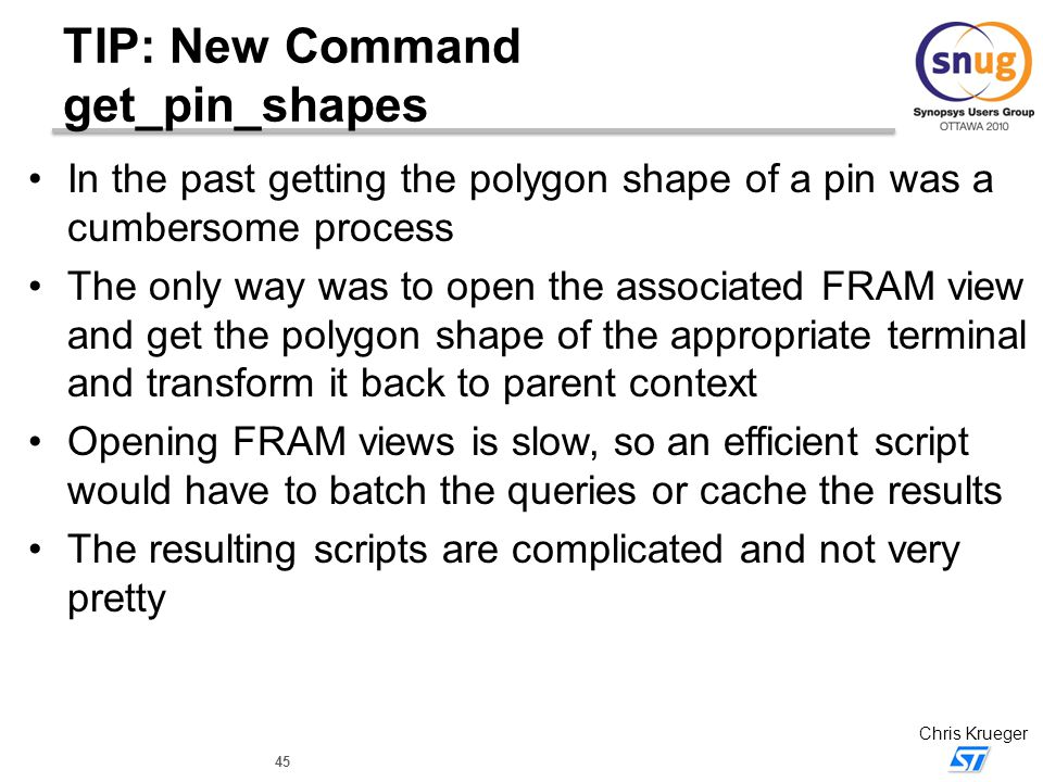 TIP: New Command get_pin_shapes