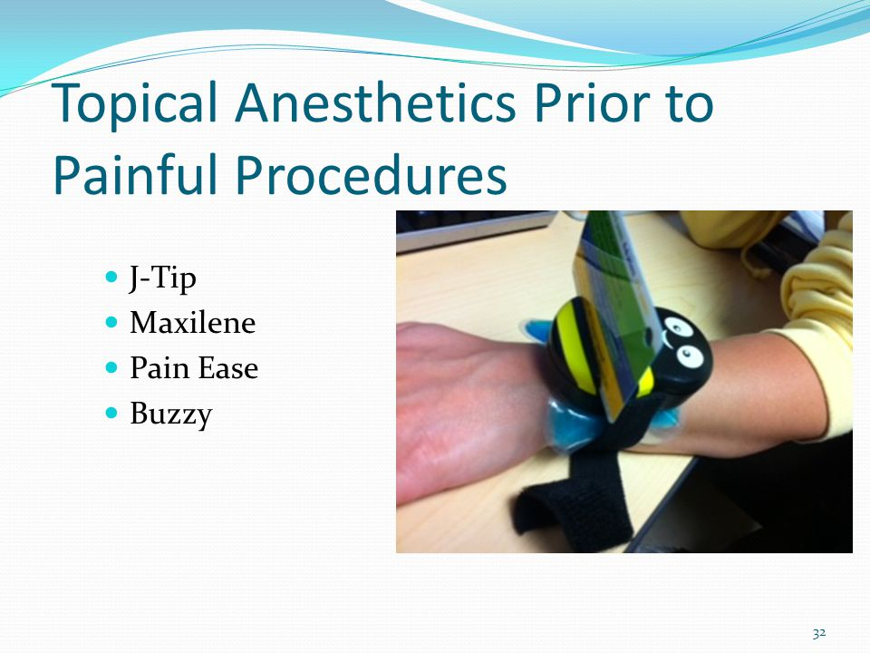 Topical Anesthetics Prior to Painful Procedures
