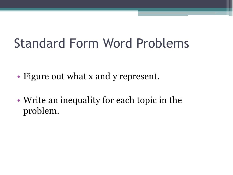 Worksheets Linear Inequalities Word Problems Worksheet 7 6 systems of linear inequalities word problems ppt download standard form problems