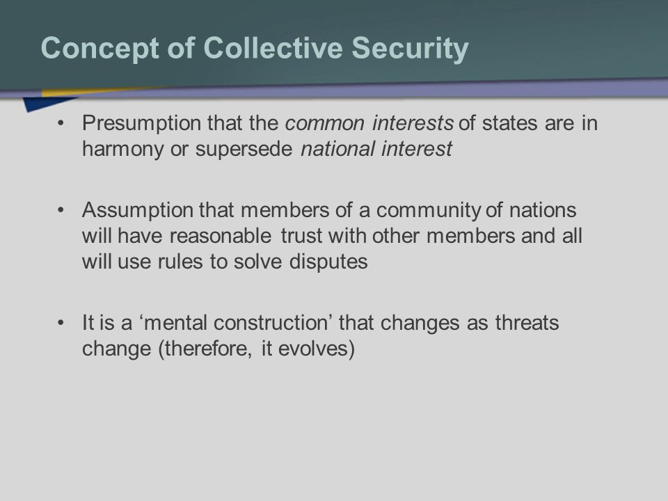Concept of Collective Security