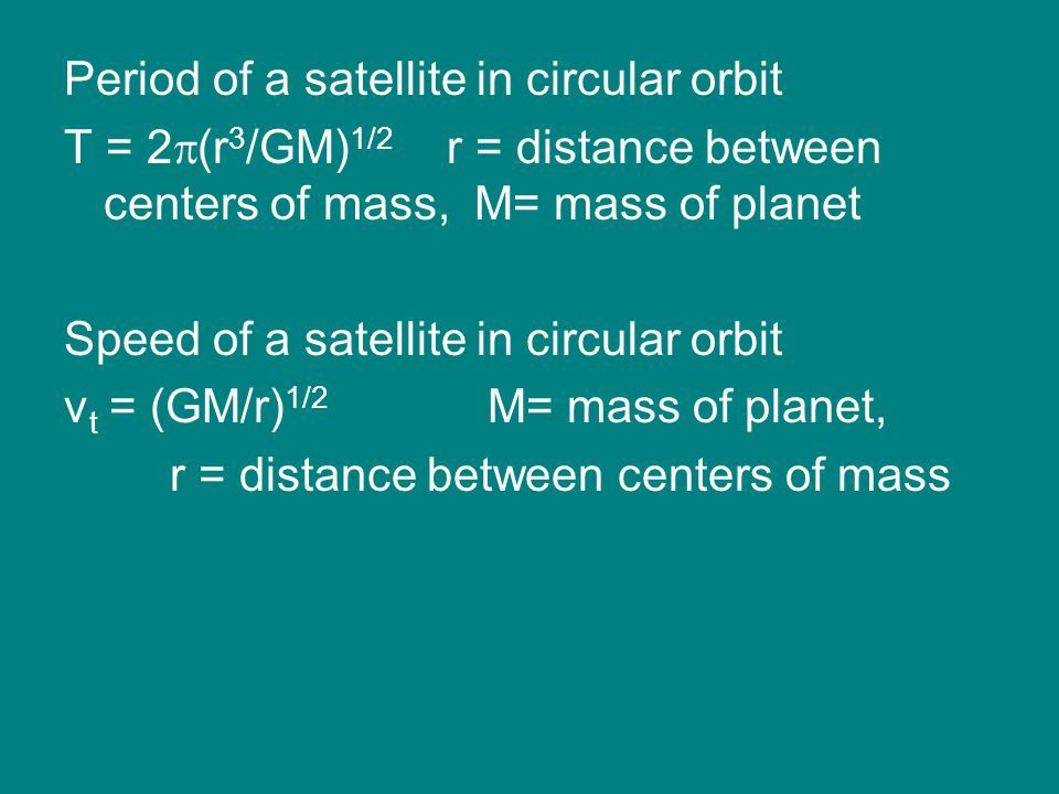 Period of a satellite in circular orbit