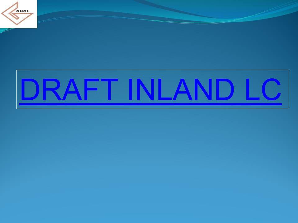 DRAFT INLAND LC
