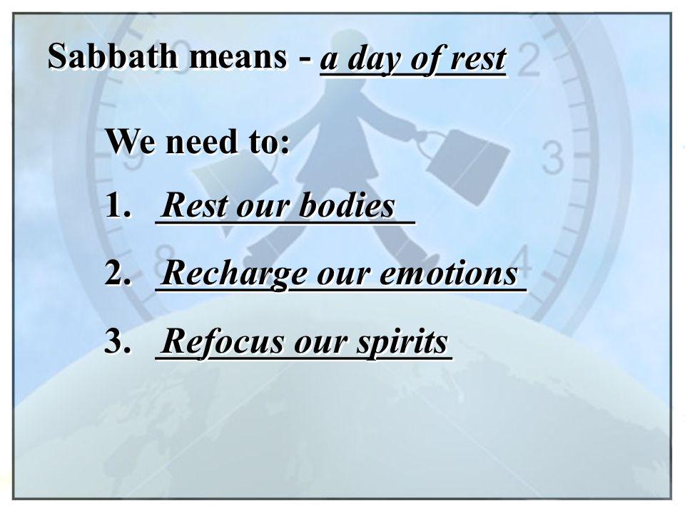 Sabbath means - __________