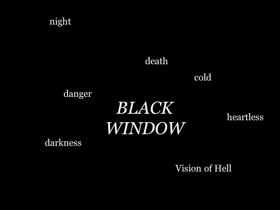night death cold danger BLACK WINDOW heartless darkness Vision of Hell