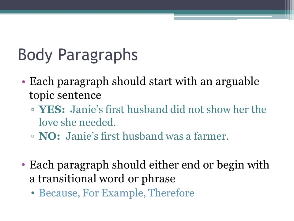 how to start your first paragraph