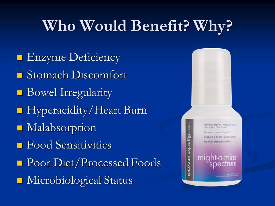 Who Would Benefit Why Enzyme Deficiency Stomach Discomfort
