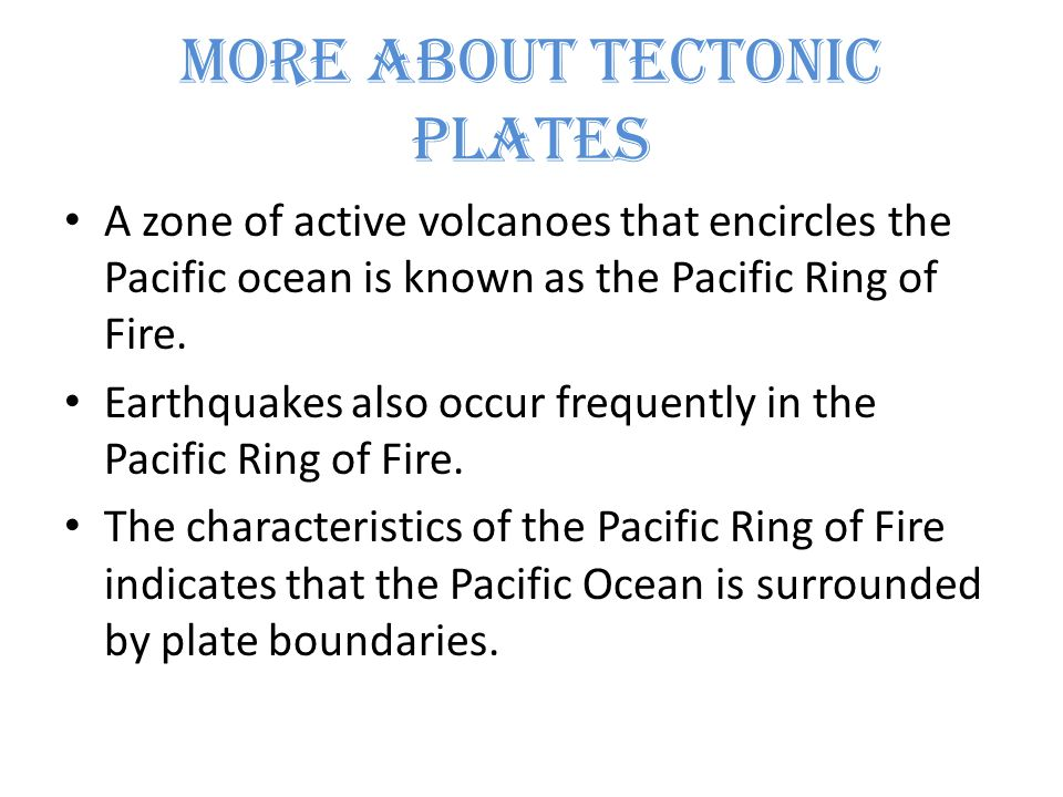 characteristics of plate margins and volcanoes Convergent plate boundaries  sections of the ring of fire, subduction zones that surround much of the pacific ocean, are underwater submarine volcanoes at these.
