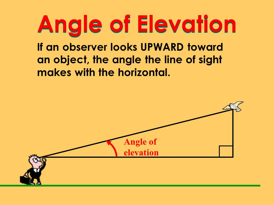 Angle of Elevation Angle of Elevation