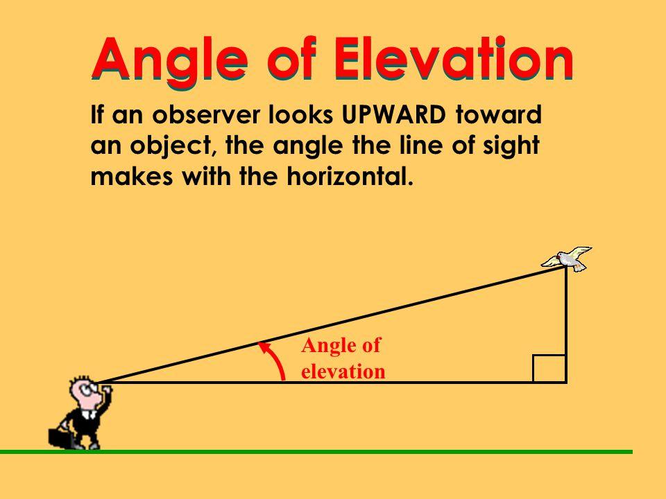 Angle of Elevation Angle of Elevation
