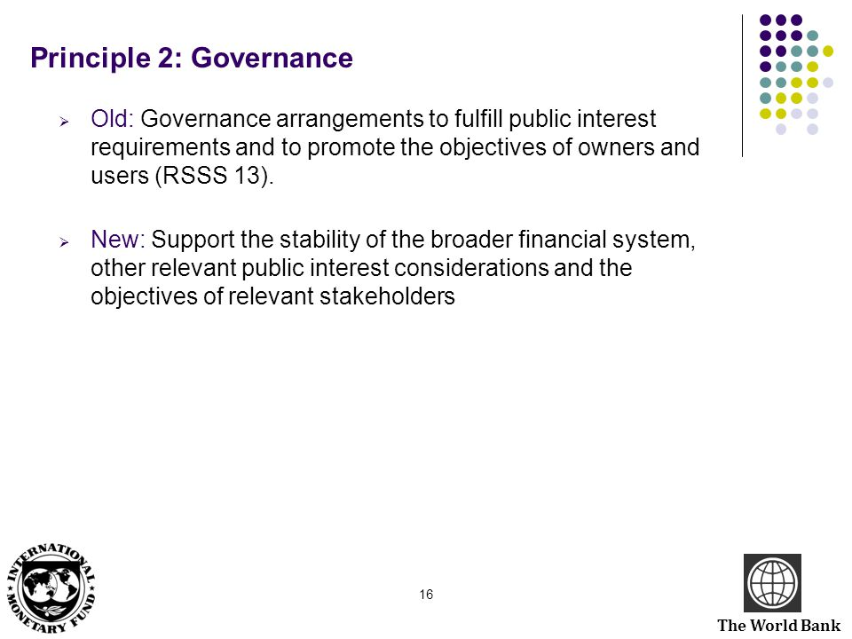 Principle 2: Governance