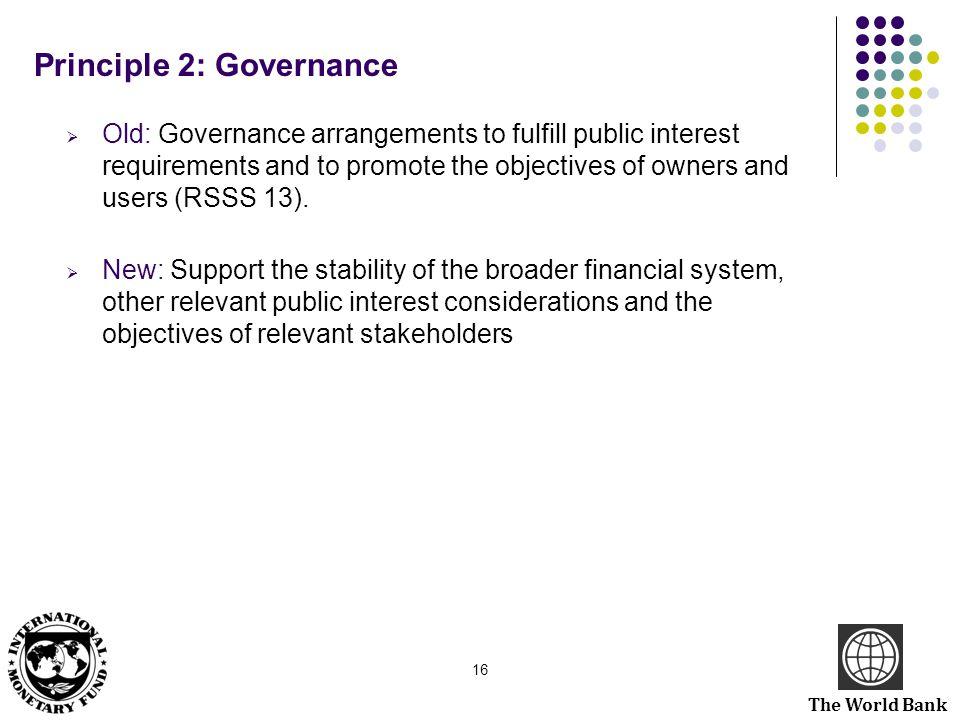 Principle 2: Governance