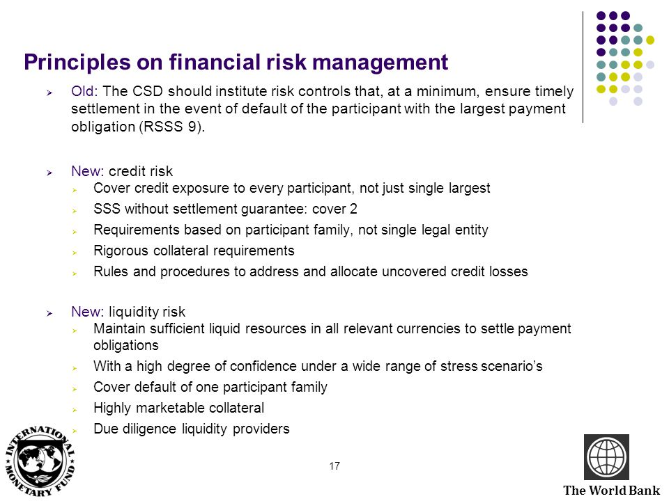 Principles on financial risk management
