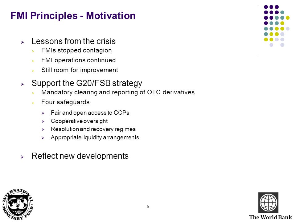FMI Principles - Motivation