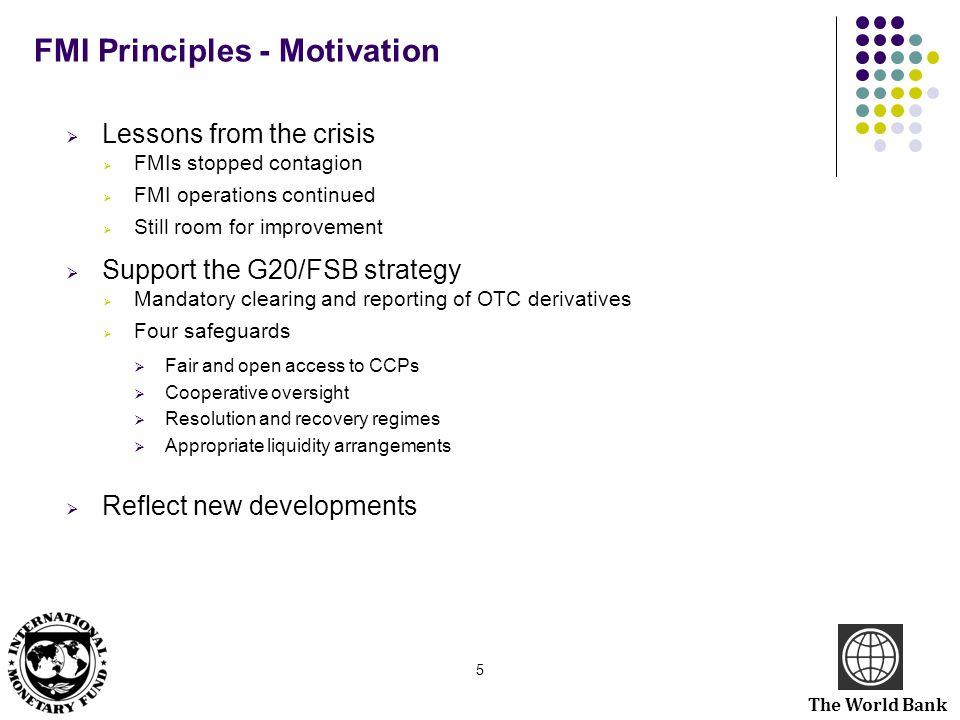 FMI Principles - Motivation
