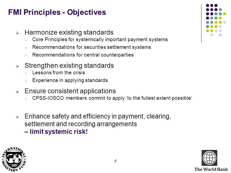 FMI Principles - Objectives