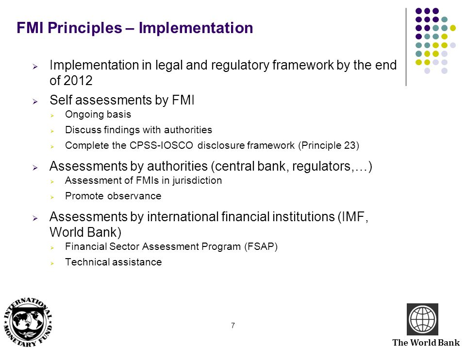 FMI Principles – Implementation
