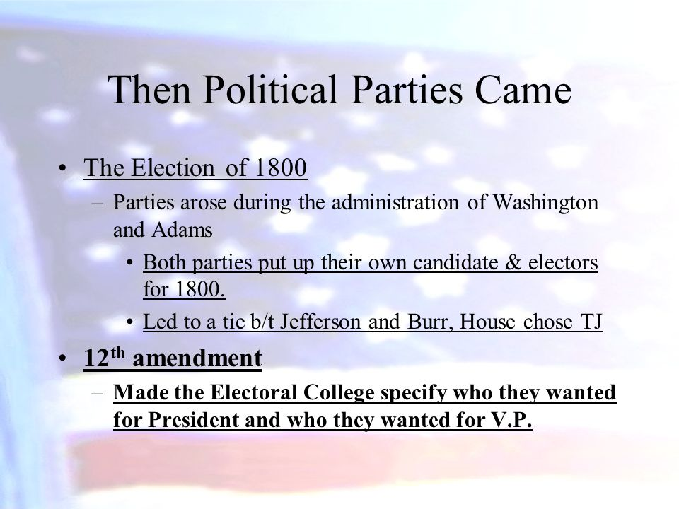 Then Political Parties Came