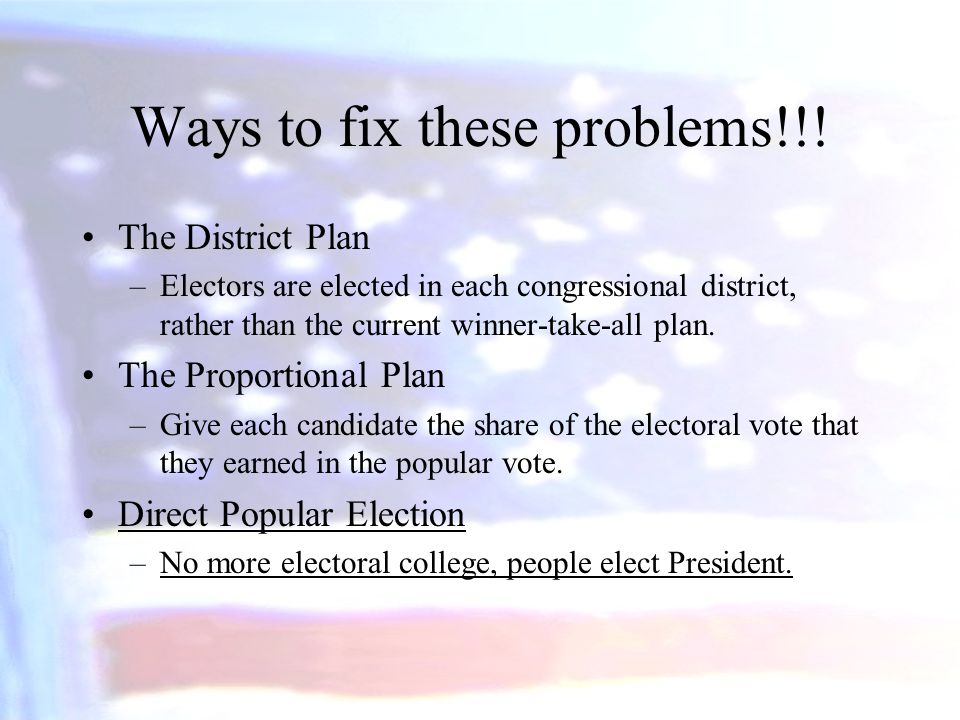 Ways to fix these problems!!!