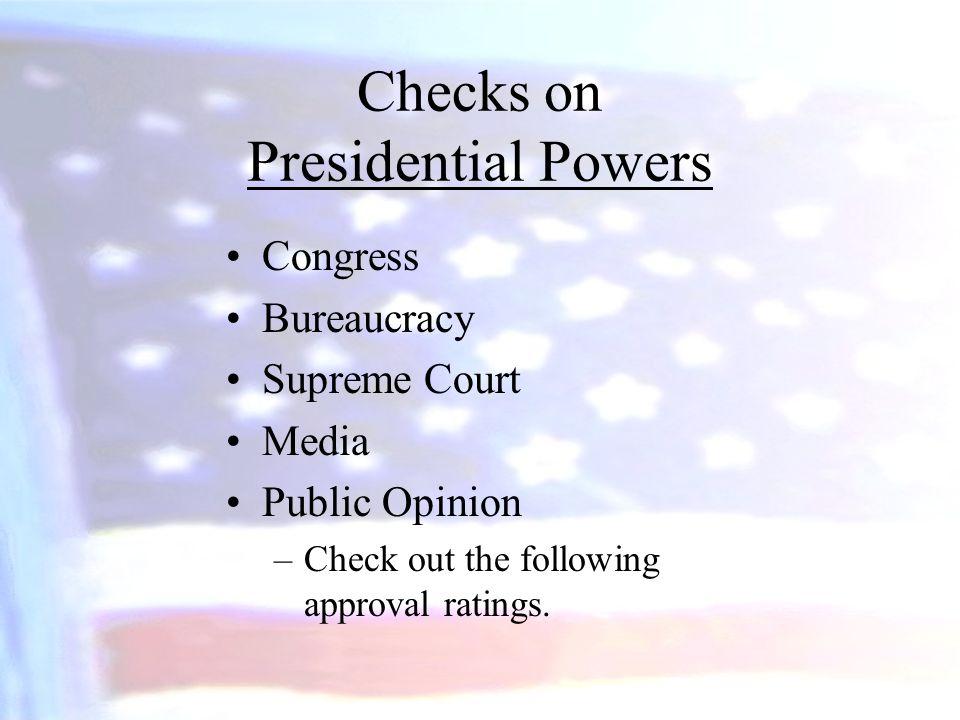 Checks on Presidential Powers