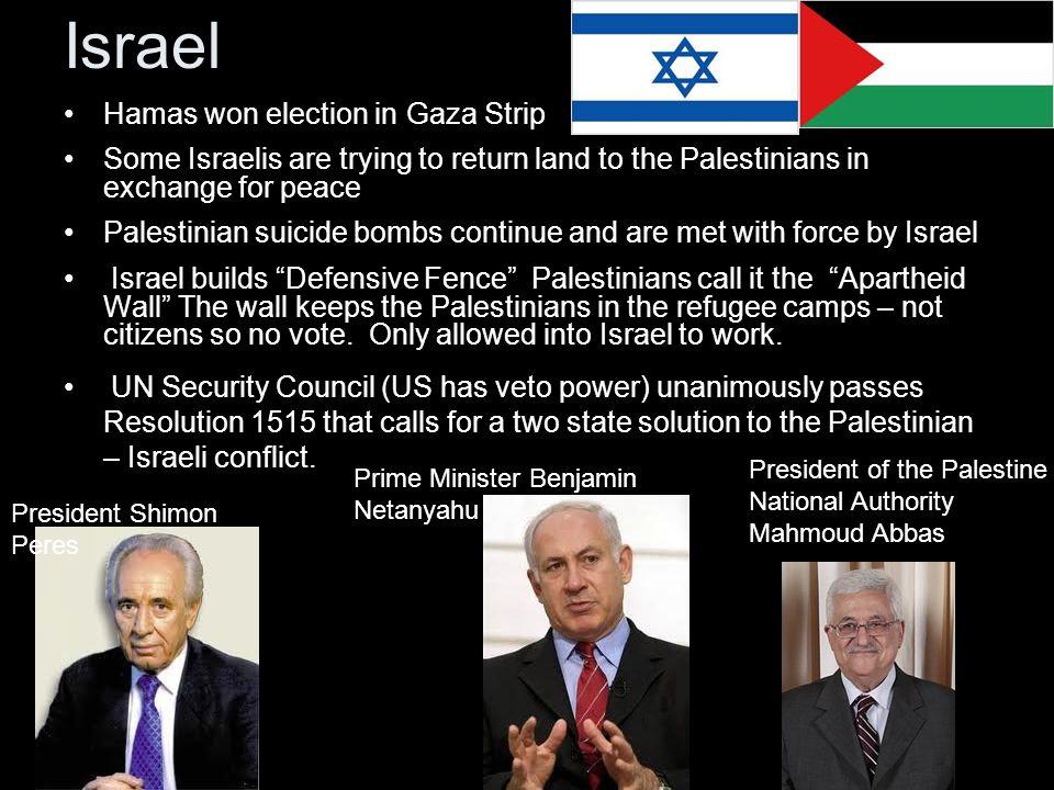Israel Hamas won election in Gaza Strip