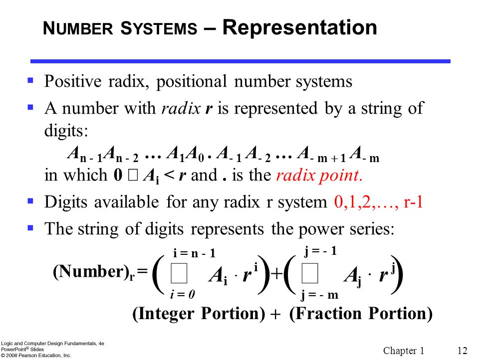 NUMBER SYSTEMS – Representation