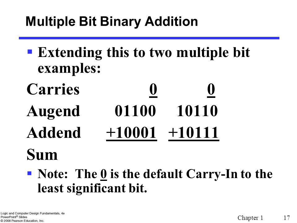 Multiple Bit Binary Addition