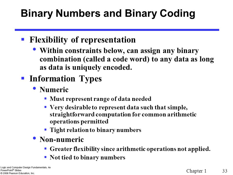 Binary Numbers and Binary Coding
