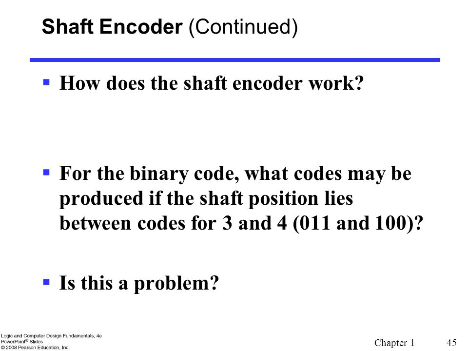 Shaft Encoder (Continued)