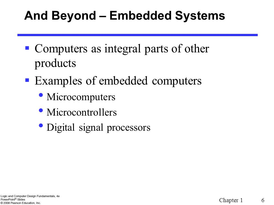 And Beyond – Embedded Systems